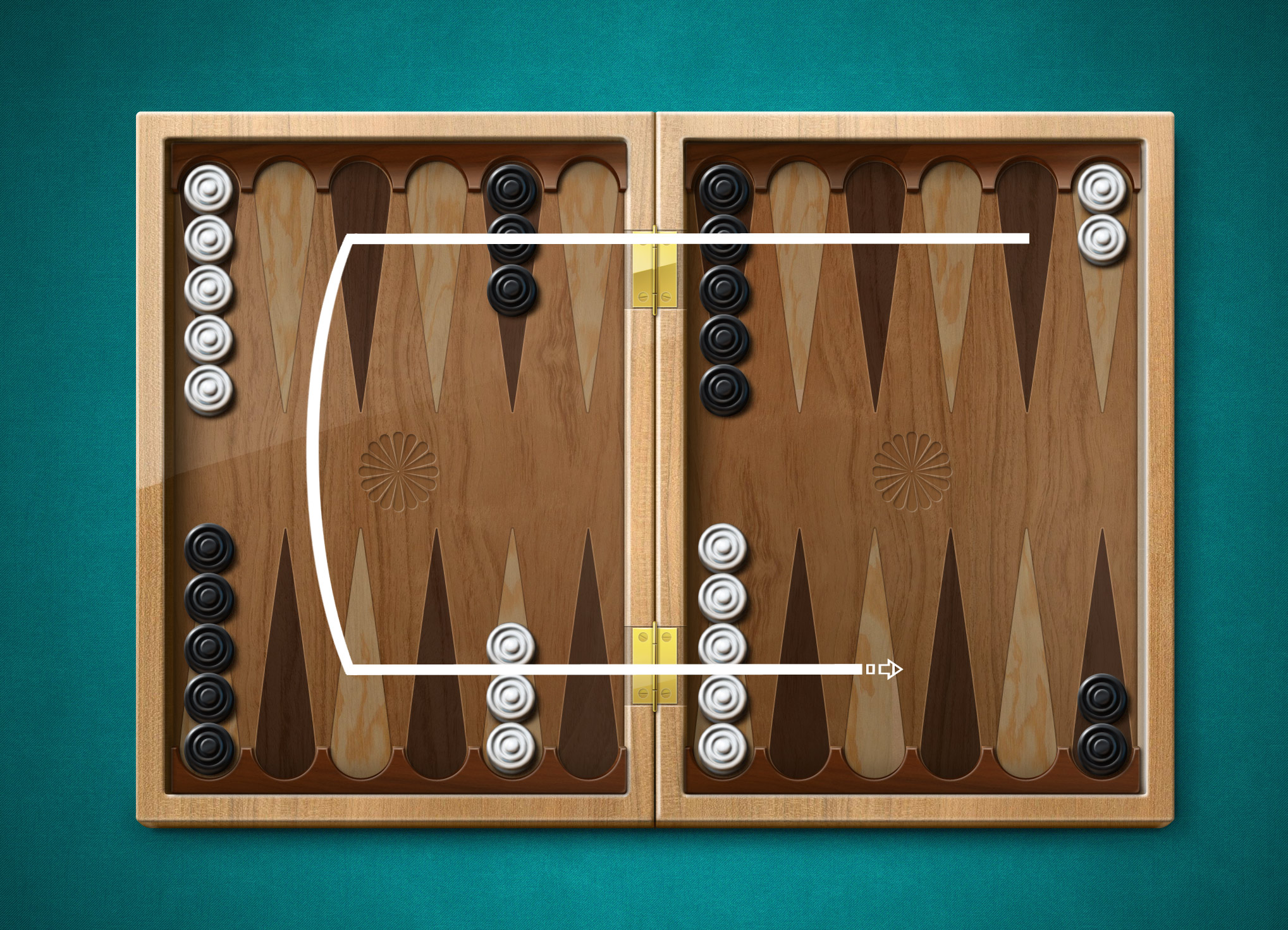 Board of backgammon